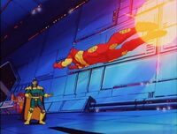 Iron Man Flies at Mandarin Space Ship