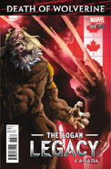 Death of Wolverine The Logan Legacy Vol 1 3 Canada Variant
