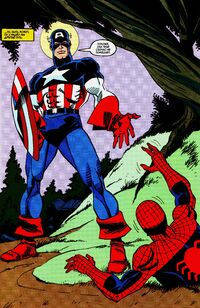 Captain America's first appearance in Maximum Carnage