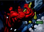 Red Hulk Derroto a She Hulk