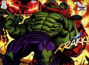 Hulk (Robert Bruce Banner) Peleando contra Red Hulk (Thaddeus Ross)