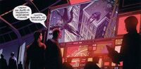 USM 70 Nick Fury and Tony Stark look at fighting of Spider-Man and Vulture