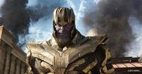 Танос во время падения Зен-Хобери - Война бесконечности