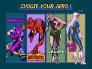 Spider-Man arcade game character selection