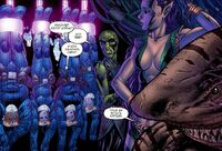 Invisible Woman, Thing Mary Storm and Mole Man sre prisoners of Atlantida Earth-1610