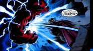 Thor Odinson Peleando Contra Hulk Rojo