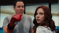 Happy Hogan is boxing with Natali Rushman