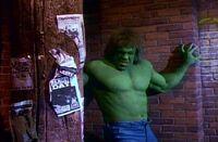 Hulk throws a column
