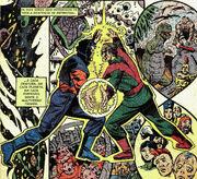 Molecule Man vs the Beyonder from Secret Wars II Vol 1 9