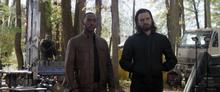 Уилсон и Барнс во время возвращения старого Родежрса - Мстители Финал