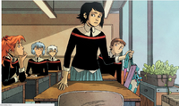 Edge of Spider Verse Issue 5 Peni Parket in the School