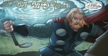 Тор борется с Халдиером - Thor, The Mighty Avenger