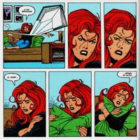 Mary Jane tries to read a book