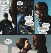 Reed Richards is arguing with Nick Fury Earth-1610