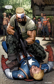 Frank Simpson (Earth-1610) and Steven Rogers (Earth-1610) from Ultimate Captain America Vol 1 2 0001