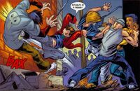 USM 65 Peter Parker saves the innocent girl