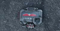 Captain Marvel's emblem on the Nick Fury's pager