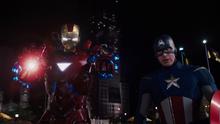 Железный человек и Капитан Америка - Мстители