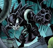 Rocket Raccoon (Earth-616) possessed by Venom (Symbiote) (Earth-616) from Guardians of the Galaxy Vol 3 22
