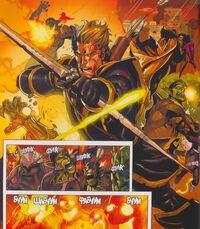 Secret Invasion 7 Ronin with Hawkeye's bow