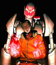Victor Mancha (Terra-616) and Ultron (Terra-616) 001