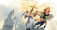 X-Men from future and Mister Fantastic Earth-1610