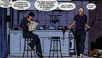 Hawkeye v4 2 Clint and Kate on the kitchen