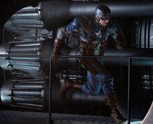 Капитан Америка на борту Валькирии - Первый мститель