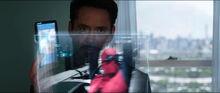 Старк показывает видео с Пауком - Противостояние