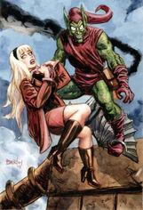 Green Goblin & Gwen Stacy (by Dan Brereton) 1