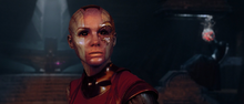 Небула во время начала битвы за Ксандар - Стражи галактики