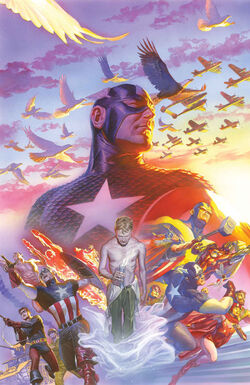 Captain America Vol 7 22 Marvel Comics 75th Anniversary Variant Textless