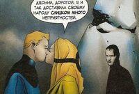 Krystall is kissing Johnny Storm Earth-1610