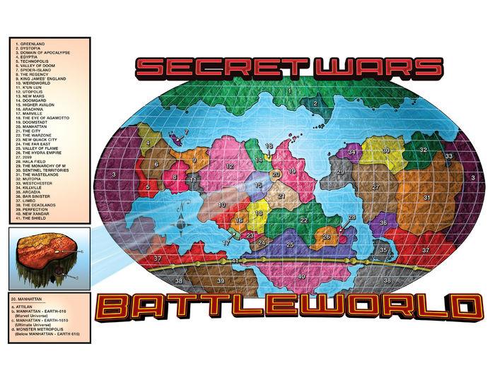 Mapa de Secret Wars Battleworld (Actualizado)