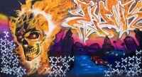 Граффити, созданное в честь Призрачного гонщика