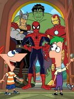 Phineas and Ferb Mission Marvel all heroes