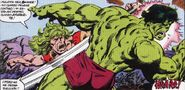 Robert Bruce Banner (Tierra-616) vs Leonard Sanson (Tierra-616) 01