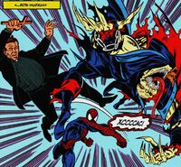 Spider-Man beats Demogoblin