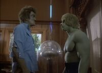 Hulk versus Dell Frye's creature