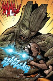 GOTG Most Wanted Rocket Shoots Groot