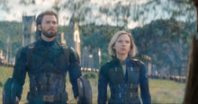 IW Captain America with Wakandan Shields and Black Widow