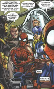 Peter Parker (Earth-982) and Avengers (Earth-982) from Spider-Girl Vol 1 81 001