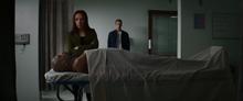 Natasha and Nick Fury's dead body