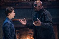 Spider-Man Far From Home Nick Fury (Talos) reprimands Peter Parker