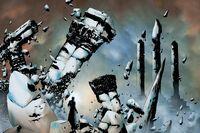 Black Bolt is destroying Attilan Earth-1610