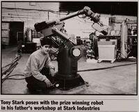 Tony Stark proves his own scientific genius