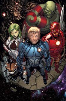 Iron Man aux côtés des Gardiens de la Galaxie