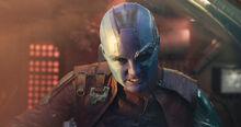 Небула атакует Гамору - Стражи галактики 2