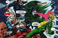 Morbius fights with criminals