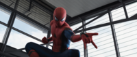 Captain America Civil War Spider-Man Chases Bucky and Falcon